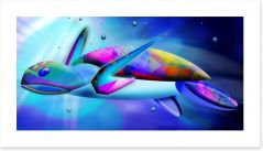 Sea turtle swim Art Print 50465005