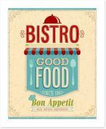 Good food bistro Art Print 50469088