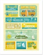 Vintage vacation Art Print 50531185