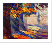 Autumn forest sunlight Art Print 51564370