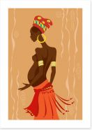 Zulu mother to be Art Print 51747037