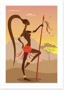 Zulu stance Art Print 51747387