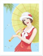 Summer at the seaside Art Print 51972039