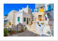 Syros island village, Greece