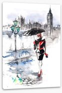 Strolling in the rain Stretched Canvas 52151691