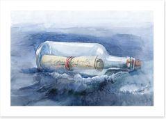 Message in a bottle Art Print 52241611