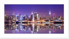 Manhattan skyline reflections
