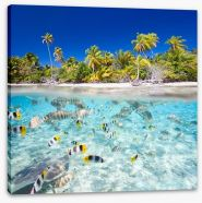 Tropical island paradise Stretched Canvas 53128524