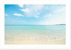 White beach ripples Art Print 53244524