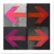 Red arrows Art Print 53951541