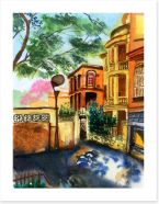 The shady street Art Print 54142869