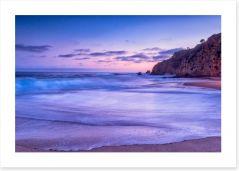 California beach sunset Art Print 54490517