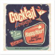Vintage mixologist Art Print 54721226