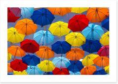 The festival of umbrellas Art Print 54728630