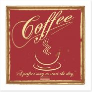 Perfect start to the day Art Print 54816916