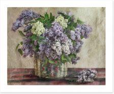 Lilac basket bouquet