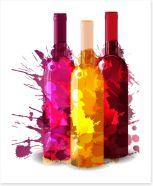 A splash of wine Art Print 55813287