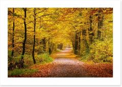 Golden forest Art Print 55873204