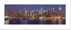 Manhattan at night panorama Art Print 55873446