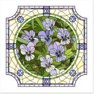 Purple pansy art nouveau