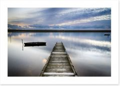Dusk falls on the old jetty Art Print 56130091