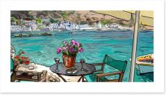Cafe by the sea Art Print 56448480