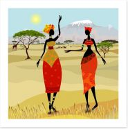 African women on the plains