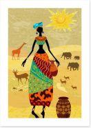 African Art Art Print 56640036