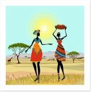 African women on the plains Art Print 56640059