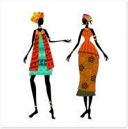 African Art Art Print 56640111