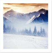 Winter in the mountains Art Print 56854064