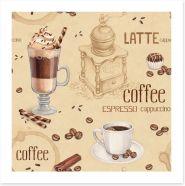 Vintage coffee Art Print 57135558