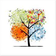 Four seasons tree Art Print 57265410