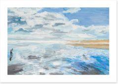 On the beach Art Print 57290532