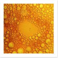 Golden bubbles Art Print 57625641