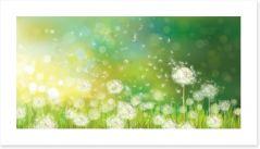 Dandelion wishes Art Print 58106384