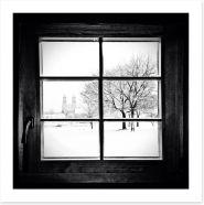 Through the window Art Print 58538459