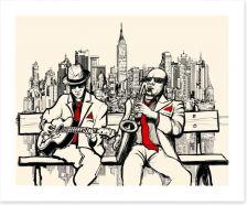 New York blues Art Print 58689971