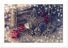 A very vintage Christmas Art Print 58884948