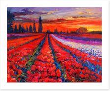 Poppy field sunset Art Print 59143152