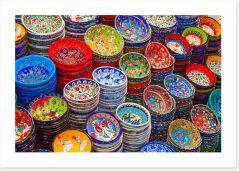 Rainbow ceramics Art Print 59166270