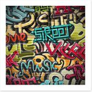 Street music graffiti