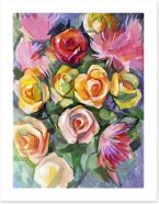 Rose and chrysanthemum bouquet Art Print 59728935