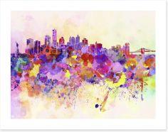 New York City skyline watercolor Art Print 59802668