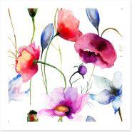 Wild flowers springtime Art Print 59984905