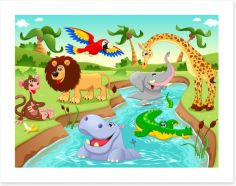 Animal Friends Art Print 60264770