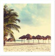 Faraway beach Art Print 60536105