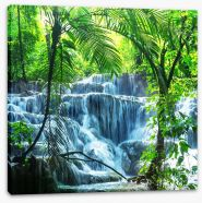 Tropical waterfall Stretched Canvas 60536244