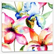 Lily and Iris Stretched Canvas 60562022