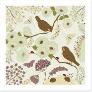 Springtime romance Art Print 60580880